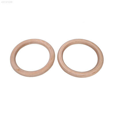 Wooden 28mm Exercise Fitness Gymnastic Rings With Buckle Straps Adjustable