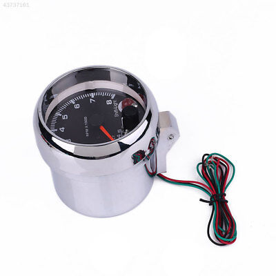 12V Universal Car Auto Vehicle Tachometer Gauge With Shift Light 0-8000 RPM