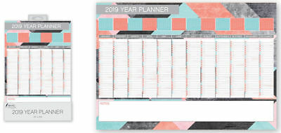 2019 Year Wall Planner Holiday Planner Modern Design Family Planner