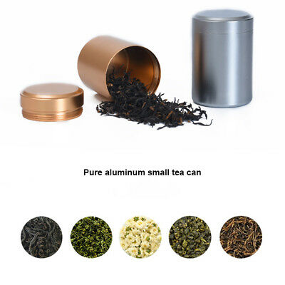 Portable Mini Tea Can Aluminum Herb Stash Jar Seal Smell Proof Container Spice
