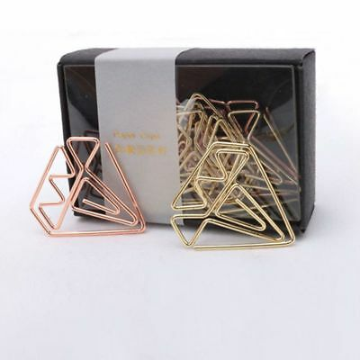 New arrival bookmark diamond clip rose gold clip gold staples stationery be B1S5