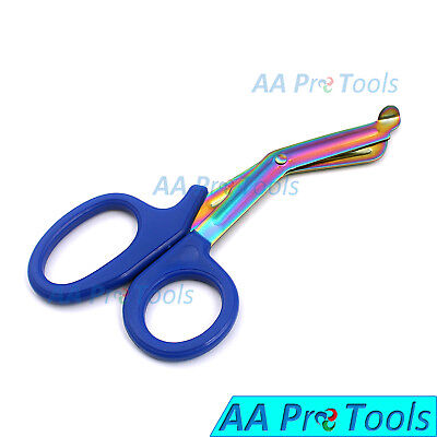 Blue Heavy Duty Military style Trauma EMT/Paramedic Shears Multi Rainbow Color