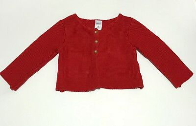 NEW CARTER's baby girl red L/S thick knitted cardigan top 6M 6 months sz 00