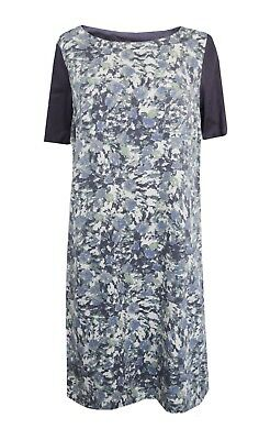 New White Stuff  8 - 18 Navy Blue Purple Floral Print Smart Casual Party Dress