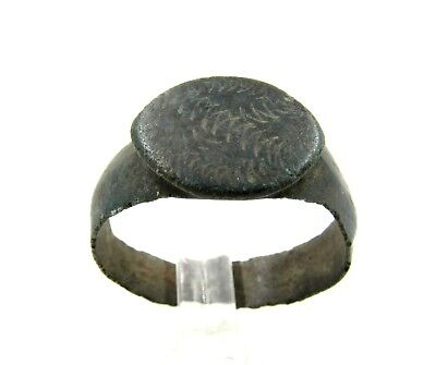 Authentic Medieval Viking Ring W/ Dragon Eye Motif - Wearable - E752