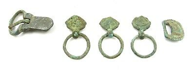 Authentic Lot Of Medieval Bronze Buckles & Fittings  - E827