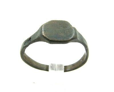 Authentic Medieval Viking Era Bronze Decorated Ring - Wearable - E700