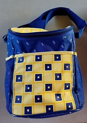 Enfamil Baby Formula Bottle Insulated Bag Cooler Portable Storage Yellow Blue