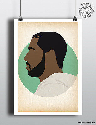DRAKE MUSIC RAPPER HIP HOP BLACK WHITE GIANT ART PRINT PANEL POSTER NOR0645