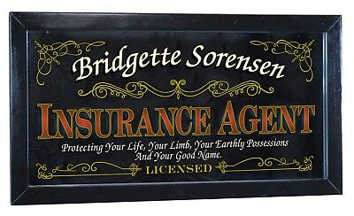 """PLAQUE /""""SEX INSURANCE/"""" funny METAL SIGN WALL ART great saucy Christmas Gift"""
