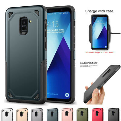 Shockproof Dual Layer Protective Hard Slim Case Cover For Samsung Galaxy A6/A8