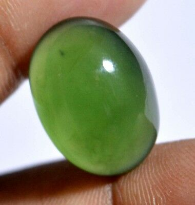 13.90 Ct Natural Green Serpentine GGL Certified Untreated Cabochon Loose Gem