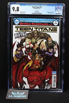 Teen Titans #12 Cover B Variant CGC 9.8 1st Appearance Batman Who Laughs