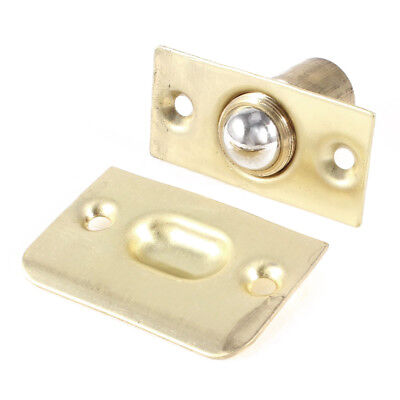 French Doors Fitting brass Ball Catch w Strike Plate Gold Tone U5I4