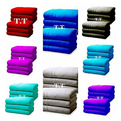 Set Of 6 Pure Egyptian Cotton Towels Bathroom Gift Set Jumbo Sheet Bale Towels