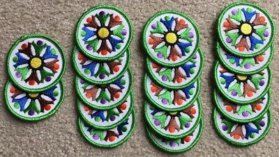 Lot of 17 Unused GIRL SCOUTS Fun Patches World Thinking Day Circle of Friends