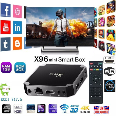 Genuine X96-Mini-S905W-1GB-8GB-TV-BOX-Android-7.1 Quad Core Smart Media Player