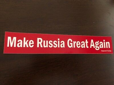 Donald Trump Make Russia Great Again America Bumper Sticker MAGA