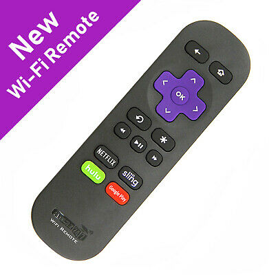 New RF Replacement Remote FIT Roku Stick/ Premiere/ Ultra/ Express, Roku 2,3,4