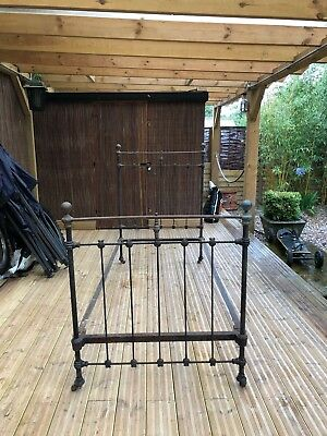 French Iron & Brass Single Bed Frame