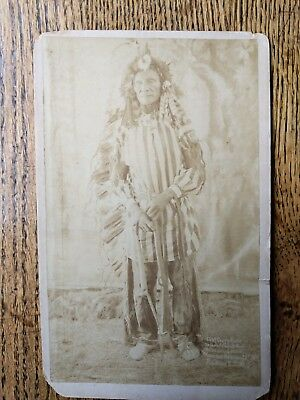 Chief Crazy Bear (and-2 total) Chief Sinking Bear - circa 1890 - Wounded Knee