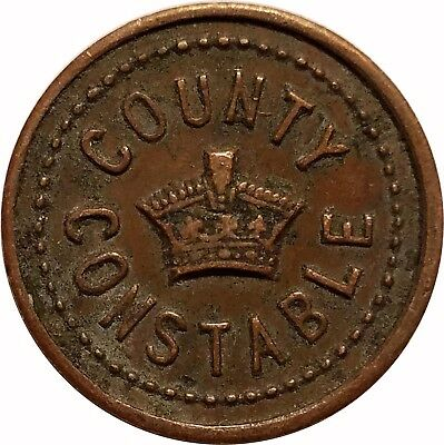 UK Unknown, England County Constable Copper Token Medal