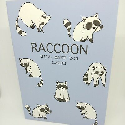 Mini Notebook Blank Notepad Journal Pocket Travel Diary Paper Cute Raccoon Memo