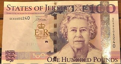 Jersey P-37 100 Pounds Queen's Diamond Jubilee Commemorative without booklet