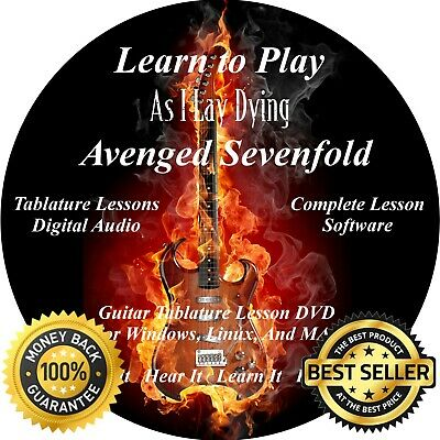 AS I LAY Dying Guitar 78 Avenged Sevenfold 113 Song Guitar TAB Lesson CD +  50 BT