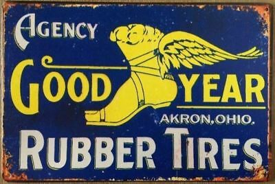 Goodyear Rubber TYRES metal sign 20 x 30 cm free postage