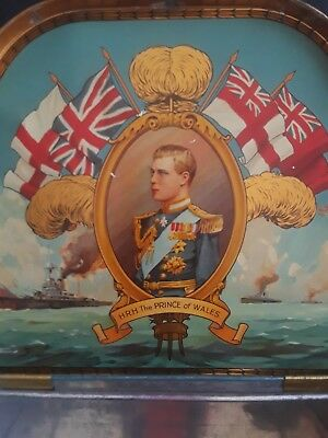"1911 Prince of Wales (King Edward VIII) Store Tin for ""Lowton"" Candies/Biscuits"