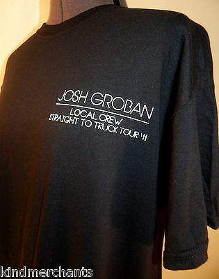 Josh Groban Concert Crew T-shirt Pop Music Shirt NEW 2011 L