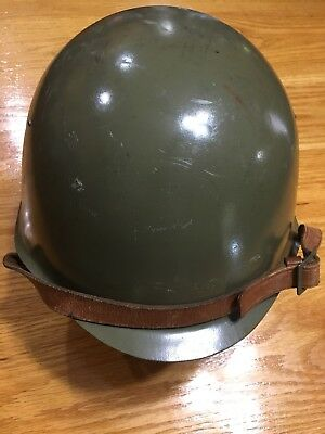 Vintage Russian Steel Helmet With Chin Strap
