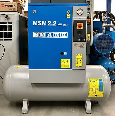 Mark MSM2.2 Receiver Mounted Rotary Screw Compressor! Immaculate! Single Phase!