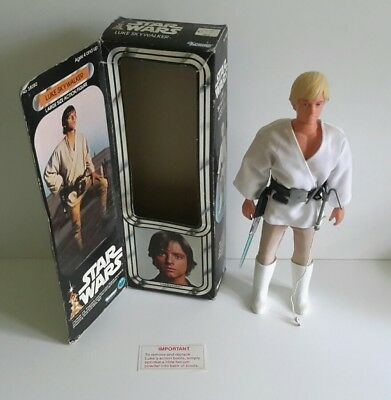"Vintage Star Wars 12"" Luke Skywalker 1977 mit Box"
