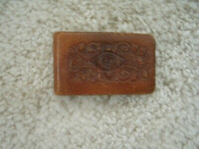 Estate Fresh Vintage Leather Covered Compact