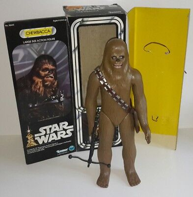 "Vintage Star Wars 12"" Chewbacca 1977 mit Box"