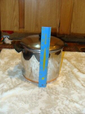 revere ware 8 qt  pot with lid patent 2272609,copper bottom, nice condition,