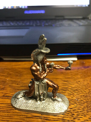 Native American Pow-wow Dancer pewter figure