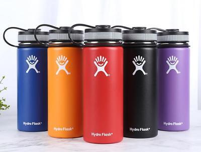 Hydro Flask Water Bottle Stainless Steel Insulated Wide Mouth Lid Drink Handle