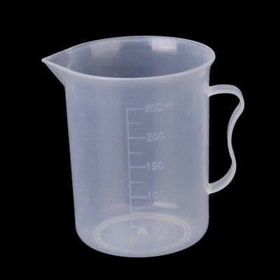 250 ml transparent plastic measuring cup with handle C4K2
