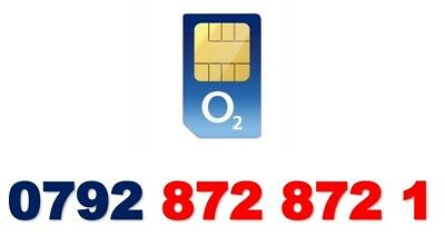O2 Network Gold Easy Vip Business Mobile Phone Number Platinum Simcard 872 872