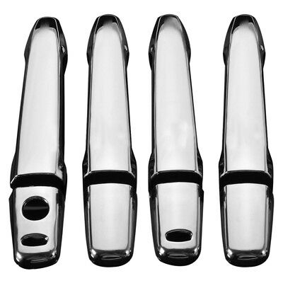 4Pcs Chrome Door Handle Cover Smart Key Cap For Mitsubishi Outlander 2013 - Q2X3
