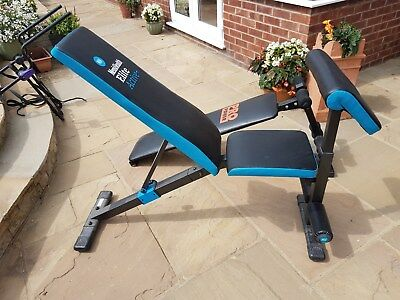 Mens Health Incline and Decline Fitness Bench with footrest, Excellent condition