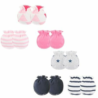 3 Pairs Newborn Infant Baby Soft Cotton Handguard Anti Scratch Mittens Gloves