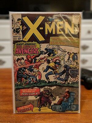 X-Men #9 (1963) Key Issue! Featuring the AVENGERS!! Great copy!