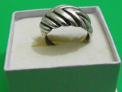 Vintage silver sterling 925 antique ring hand made art Deco style size 7 3/4 ZV