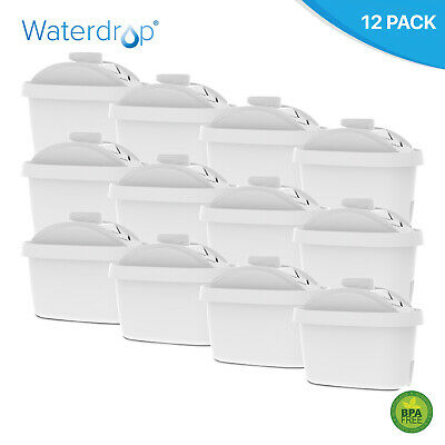 Pack of 12 Compatible Water Filter Cartridges to fit Brita Aluna, Cool Jugs