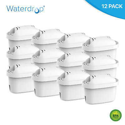 Pack of 12 Compatible Water Filter Cartridges to fit Brita Elemaris, Fjord Jugs