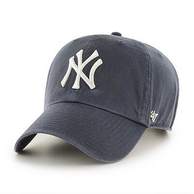 47 BRAND MLB New York Yankees Clean Up Curved V Relax Fit Cap Pink ... 71ab59fbd8af